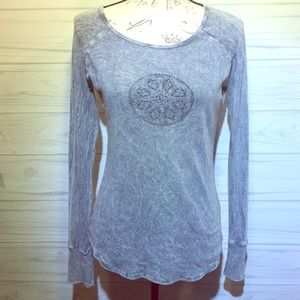 Prana Blue Thermal Longsleeve Pullover M
